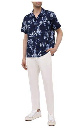 Мужская хлопковая рубашка POLO RALPH LAUREN синего цвета, арт. 710842892/5395   Фото 2
