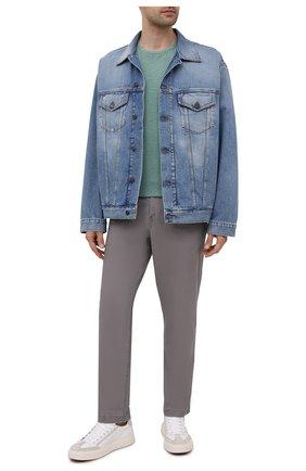 Мужская хлопковая футболка POLO RALPH LAUREN зеленого цвета, арт. 710795137 | Фото 2 (Принт: Без принта; Рукава: Короткие; Материал внешний: Хлопок; Длина (для топов): Стандартные)
