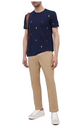 Мужские хлопковые брюки POLO RALPH LAUREN бежевого цвета, арт. 710740566 | Фото 2