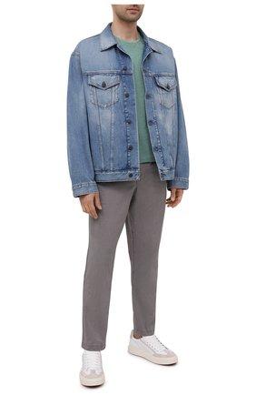 Мужские хлопковые брюки POLO RALPH LAUREN серого цвета, арт. 710740566 | Фото 2