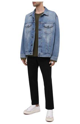 Мужские хлопковые брюки POLO RALPH LAUREN черного цвета, арт. 710740566 | Фото 2