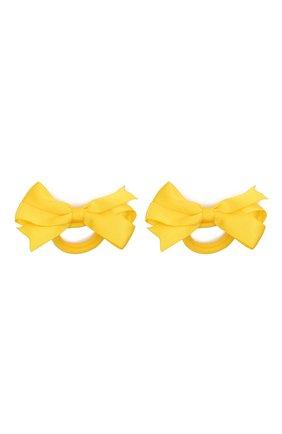 Детская комплект из двух резинок JUNEFEE желтого цвета, арт. 6427 | Фото 1