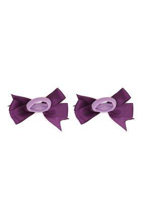 Детская комплект из двух резинок JUNEFEE фиолетового цвета, арт. 6223 | Фото 2
