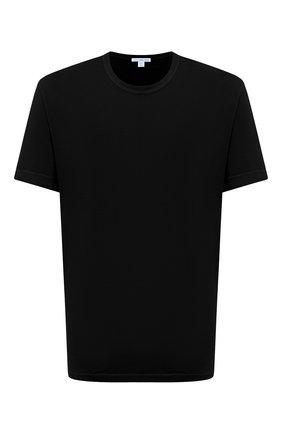 Мужская хлопковая футболка JAMES PERSE черного цвета, арт. MLJ3311   Фото 1