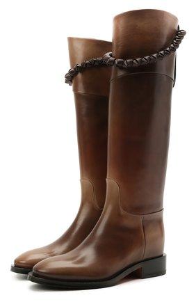 Женские кожаные сапоги SANTONI коричневого цвета, арт. WSHM59528BJ2NVHWS61 | Фото 1