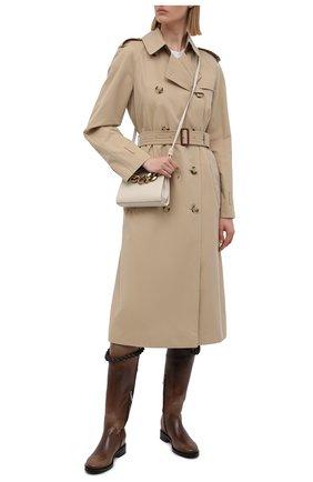 Женские кожаные сапоги SANTONI коричневого цвета, арт. WSHM59528BJ2NVHWS61 | Фото 2