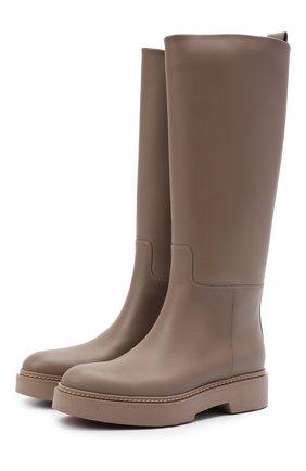 Женские кожаные сапоги SANTONI бежевого цвета, арт. WSHW59570BEINU0RM40 | Фото 1