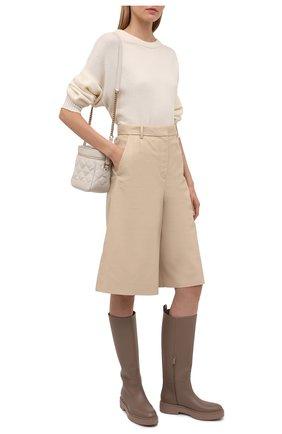 Женские кожаные сапоги SANTONI бежевого цвета, арт. WSHW59570BEINU0RM40 | Фото 2