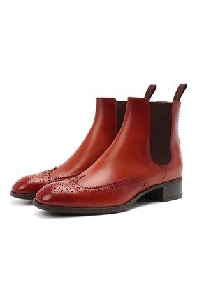 Женские кожаные ботинки SANTONI коричневого цвета, арт. WTED59585SM0NLESC30 | Фото 1