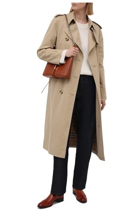 Женские кожаные ботинки SANTONI коричневого цвета, арт. WTED59585SM0NLESC30 | Фото 2