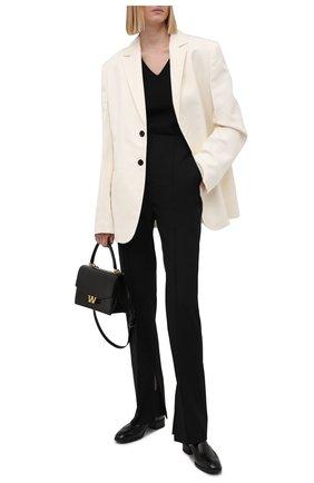 Женские кожаные ботинки SANTONI черного цвета, арт. WTED59585SM0NLESN01 | Фото 2