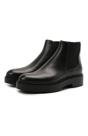 Женские кожаные ботинки SANTONI черного цвета, арт. WTHW58932SM0NU0RN01 | Фото 1