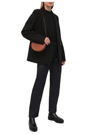 Женские кожаные ботинки SANTONI черного цвета, арт. WTHW58932SM0NU0RN01 | Фото 2