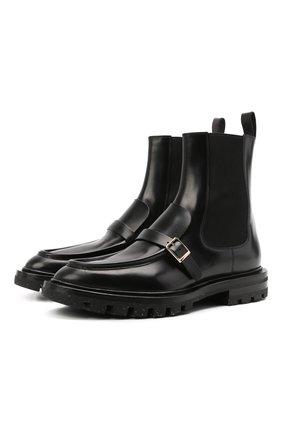 Женские кожаные ботинки SANTONI черного цвета, арт. WTRR59529HL1NBCKN01 | Фото 1