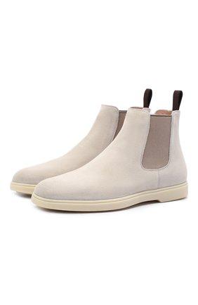 Женские замшевые ботинки SANTONI кремвого цвета, арт. WTYA58854TISNPYLI30 | Фото 1