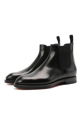 Женские кожаные ботинки SANTONI черного цвета, арт. WTYG57515BA1NVHWN01 | Фото 1