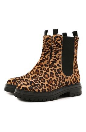 Женские кожаные ботинки GIANVITO ROSSI леопардового цвета, арт. G73206.20G0M.PVILENE | Фото 1