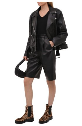Женские кожаные ботинки GIANVITO ROSSI леопардового цвета, арт. G73206.20G0M.PVILENE | Фото 2