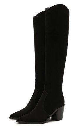Женские замшевые сапоги GIANVITO ROSSI черного цвета, арт. G80317.70CU0.C45NER0 | Фото 1