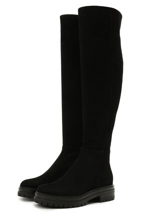 Женские замшевые сапоги quinn GIANVITO ROSSI черного цвета, арт. G80355.20G0M.C45NER0 | Фото 1