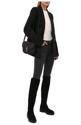 Женские замшевые сапоги quinn GIANVITO ROSSI черного цвета, арт. G80355.20G0M.C45NER0 | Фото 2