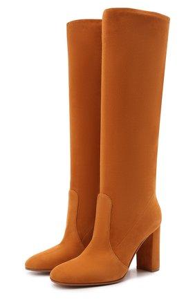 Женские замшевые сапоги glen GIANVITO ROSSI коричневого цвета, арт. G80627.85RIC.C45SINN | Фото 1