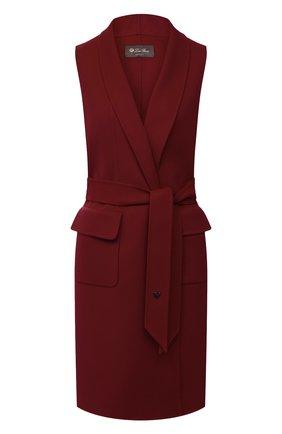 Женский кашемировый жилет LORO PIANA бордового цвета, арт. FAG3518 | Фото 1