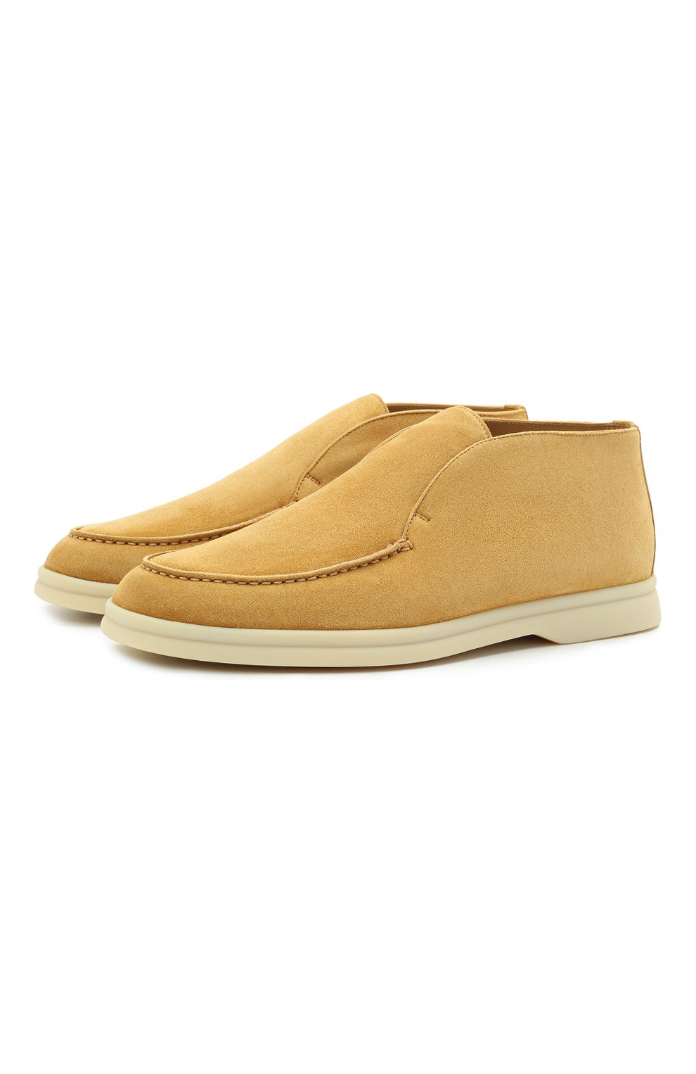 Женские замшевые ботинки open walk LORO PIANA горчичного цвета, арт. FAE9959   Фото 1