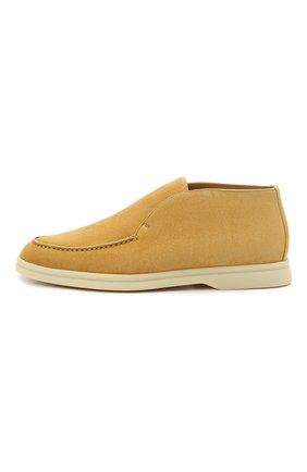 Женские замшевые ботинки open walk LORO PIANA горчичного цвета, арт. FAE9959   Фото 3