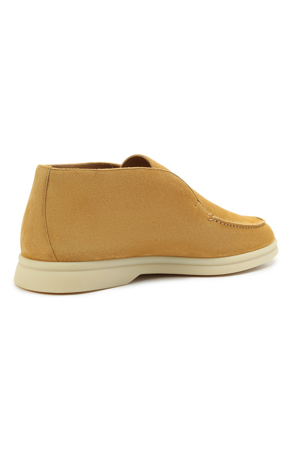 Женские замшевые ботинки open walk LORO PIANA горчичного цвета, арт. FAE9959   Фото 4