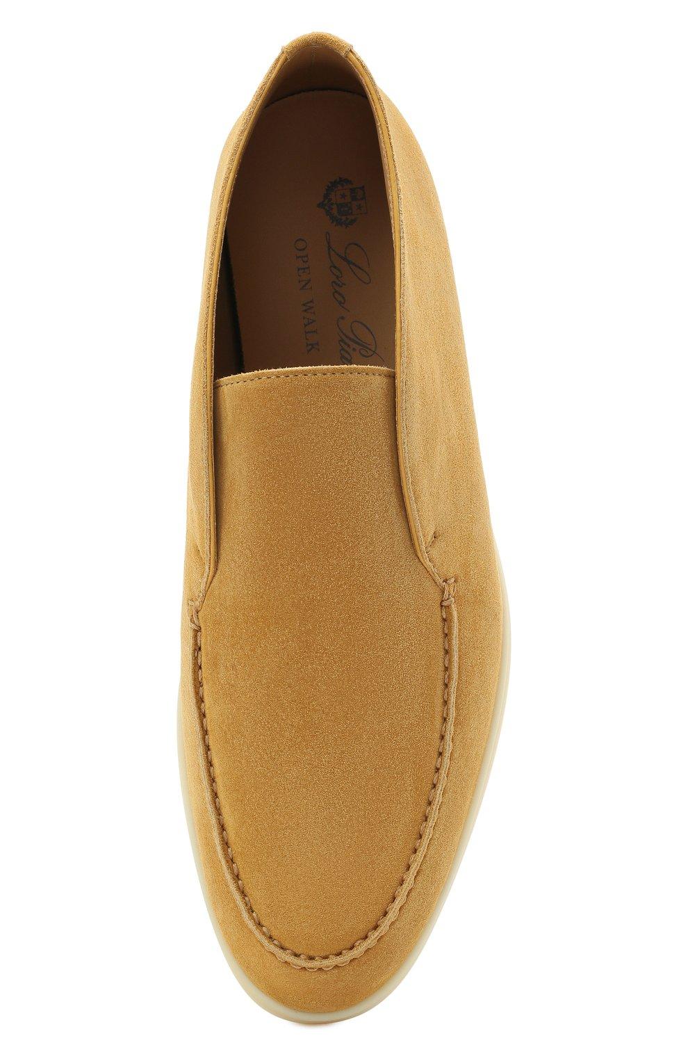 Женские замшевые ботинки open walk LORO PIANA горчичного цвета, арт. FAE9959   Фото 5