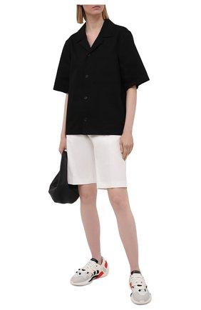 Женские текстильные кроссовки y-3 idoso boost Y-3 черно-белого цвета, арт. FZ4525/W | Фото 2