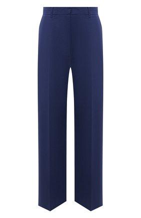Женские хлопковые брюки KENZO синего цвета, арт. FB52PA0259DG   Фото 1