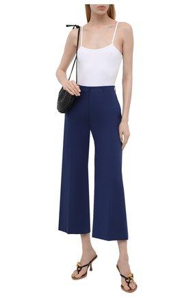 Женские хлопковые брюки KENZO синего цвета, арт. FB52PA0259DG   Фото 2