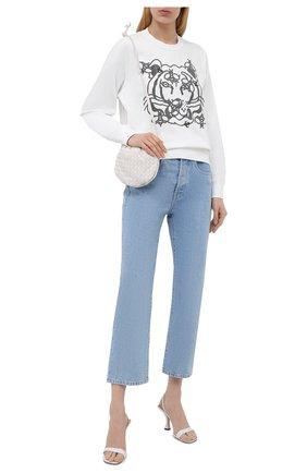Женский хлопковый свитшот KENZO белого цвета, арт. FB52SW8294M0 | Фото 2 (Длина (для топов): Стандартные; Материал внешний: Хлопок; Рукава: Длинные; Стили: Спорт-шик; Женское Кросс-КТ: Свитшот-одежда)
