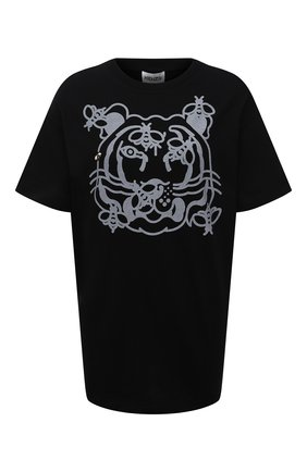 Женская хлопковая футболка KENZO черного цвета, арт. FB52TS9104SA   Фото 1