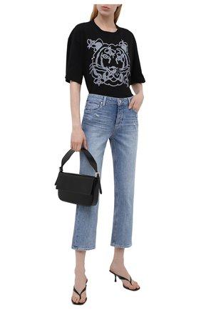 Женская хлопковая футболка KENZO черного цвета, арт. FB52TS9104SA   Фото 2