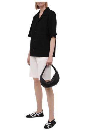 Женские текстильные слиперы KENZO черного цвета, арт. FB52L0010F74 | Фото 2 (Материал внешний: Текстиль; Материал внутренний: Текстиль; Подошва: Плоская)