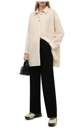 Женские кожаные кроссовки giv 1 GIVENCHY кремвого цвета, арт. BE001ME10T | Фото 2