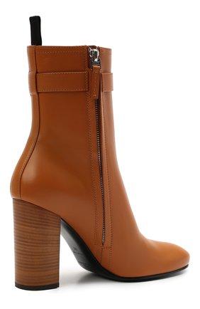 Женские кожаные ботильоны lock GIVENCHY светло-коричневого цвета, арт. BE602QE0YT   Фото 4 (Каблук высота: Высокий; Материал внутренний: Натуральная кожа; Каблук тип: Устойчивый; Подошва: Плоская)