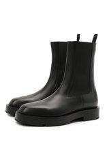 Женские кожаные ботинки show GIVENCHY черного цвета, арт. BE602VE0ZK | Фото 1 (Каблук высота: Низкий; Материал внутренний: Натуральная кожа; Подошва: Платформа; Женское Кросс-КТ: Челси-ботинки)