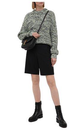 Женские кожаные ботинки romy BALMAIN черного цвета, арт. WN1TC502/LVIT | Фото 2 (Каблук высота: Низкий; Подошва: Платформа; Материал внутренний: Натуральная кожа; Женское Кросс-КТ: Военные ботинки)
