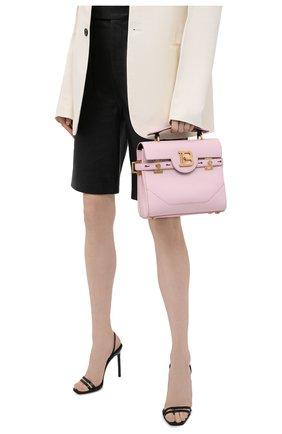 Женская сумка buzz 23 BALMAIN розового цвета, арт. WN1DB526/LVPT | Фото 2