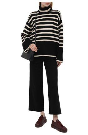 Женские кожаные кеды SANTONI бордового цвета, арт. WBCD60919B0ACMEYB80 | Фото 2