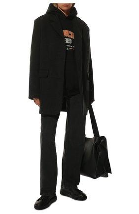 Женские кожаные кеды SANTONI черного цвета, арт. WBCD60919NEACMEYN01 | Фото 2