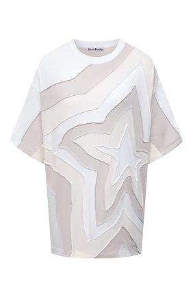 Женская хлопковая футболка ACNE STUDIOS белого цвета, арт. AL0206 | Фото 1