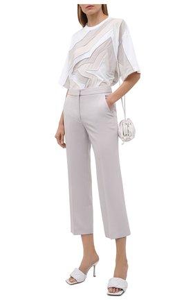 Женская хлопковая футболка ACNE STUDIOS белого цвета, арт. AL0206 | Фото 2