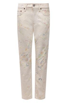 Женские джинсы POLO RALPH LAUREN разноцветного цвета, арт. 211834019 | Фото 1 (Материал внешний: Хлопок; Длина (брюки, джинсы): Стандартные; Стили: Кэжуэл; Кросс-КТ: Деним; Силуэт Ж (брюки и джинсы): Узкие)