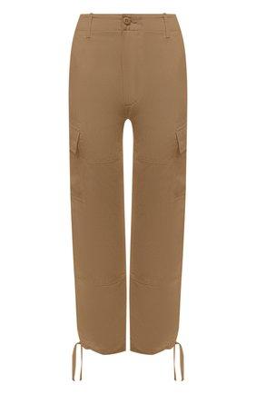 Женские брюки из шелка и льна POLO RALPH LAUREN коричневого цвета, арт. 211833039 | Фото 1 (Материал внешний: Шелк, Лен; Стили: Кэжуэл; Женское Кросс-КТ: Брюки-одежда; Силуэт Ж (брюки и джинсы): Прямые; Длина (брюки, джинсы): Укороченные, Стандартные)