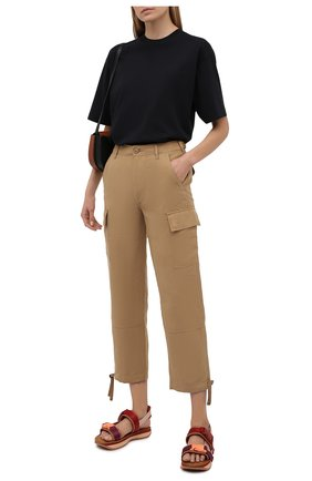 Женские брюки из шелка и льна POLO RALPH LAUREN коричневого цвета, арт. 211833039 | Фото 2 (Материал внешний: Шелк, Лен; Стили: Кэжуэл; Женское Кросс-КТ: Брюки-одежда; Силуэт Ж (брюки и джинсы): Прямые; Длина (брюки, джинсы): Укороченные, Стандартные)